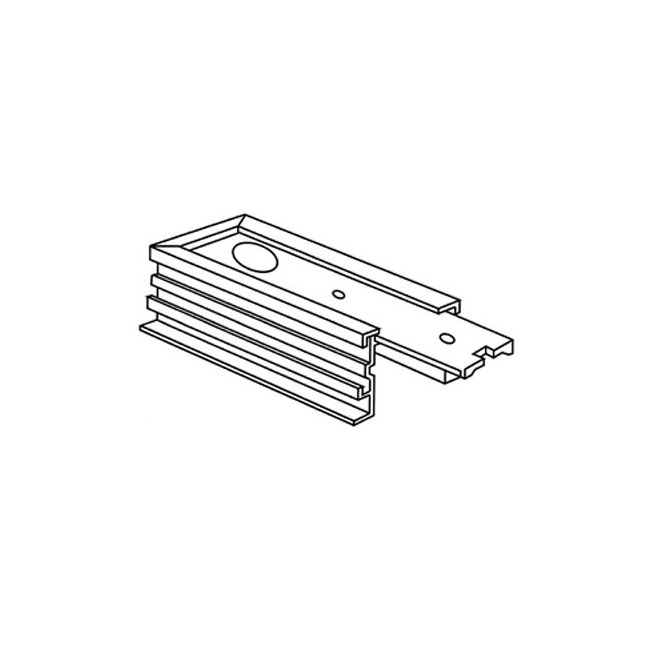 Recessed Track RAH-10 End Feed Housing by ConTech | RAH-10-P