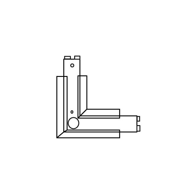 Recessed Track RAH-12 L Connector Housing by ConTech | RAH-12-P