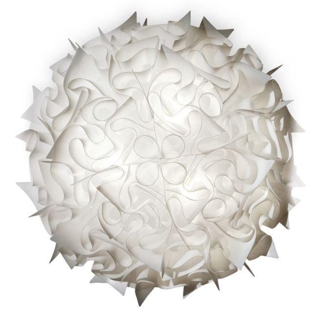 Veli Large Wall/Ceiling Flush Light by Slamp   VEL78PLF0003W_000