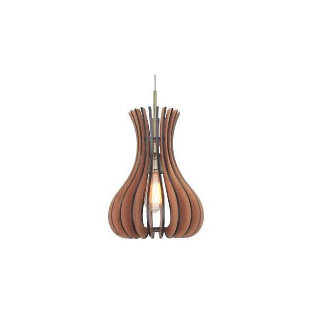 Genie Woodwork Pendant by Woodbridge Lighting | 14023CBR-W1C1CH