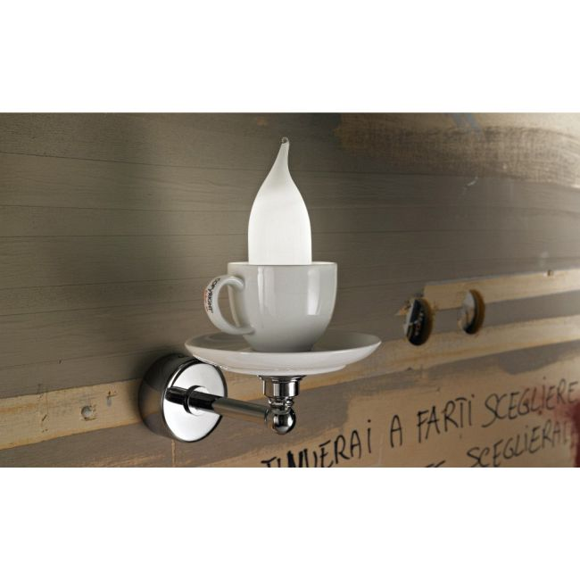 Cappuccino Wall Sconce by Lightology Collection | LC-cappu-15/ap-WH