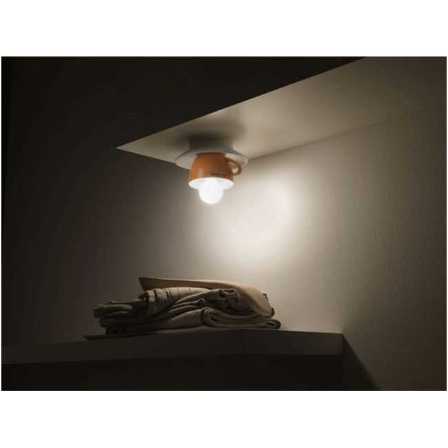 Cappuccino Ceiling Flush by Lightology Collection   LC-cappu-15/pl-OR