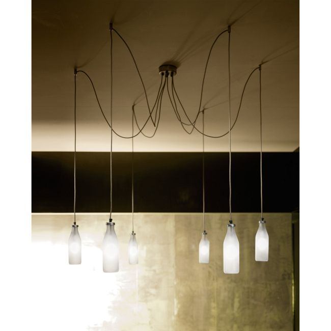 Bottles 6-light Suspension by Lightology Collection | LC-bottles 14/s6 dec