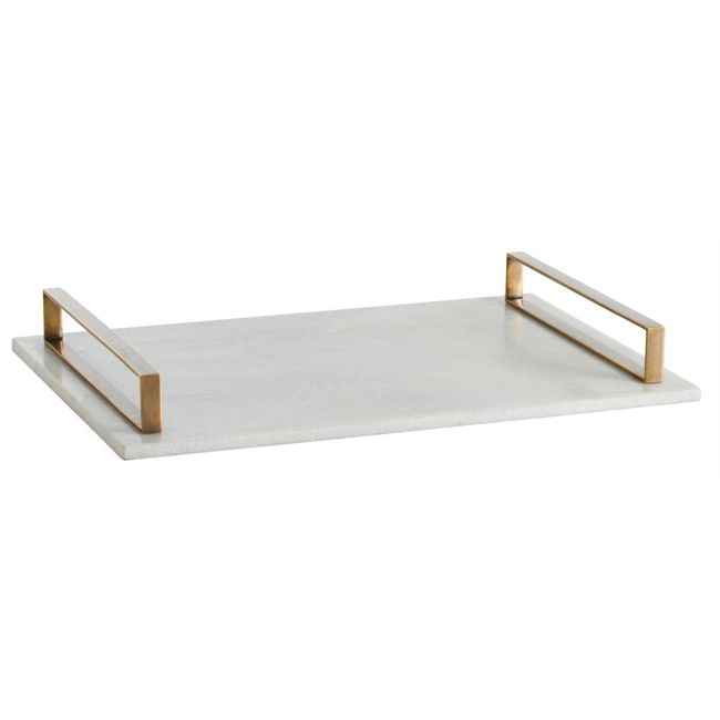 Exton Marble Tray  by Arteriors Home