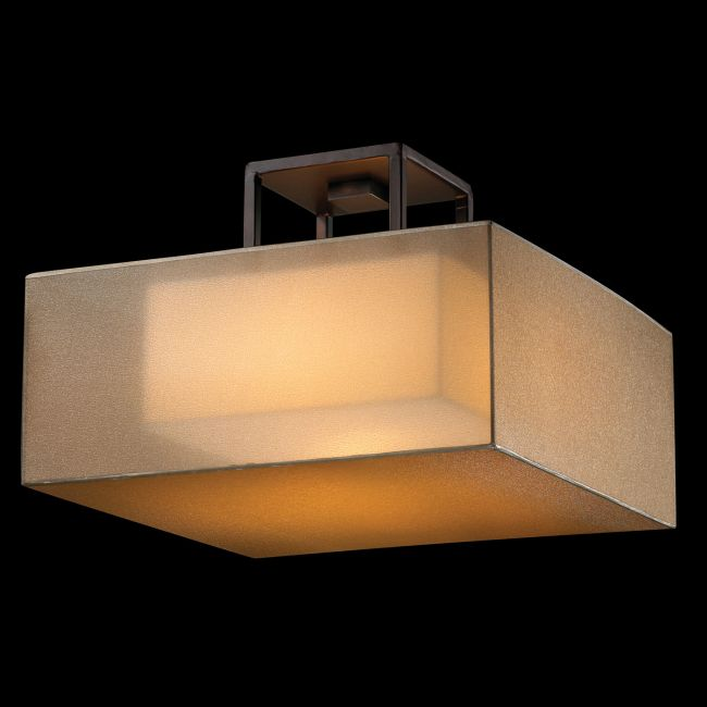 Quadralli Square Semi Flush Ceiling Light by Fine Art Lamps | 330740