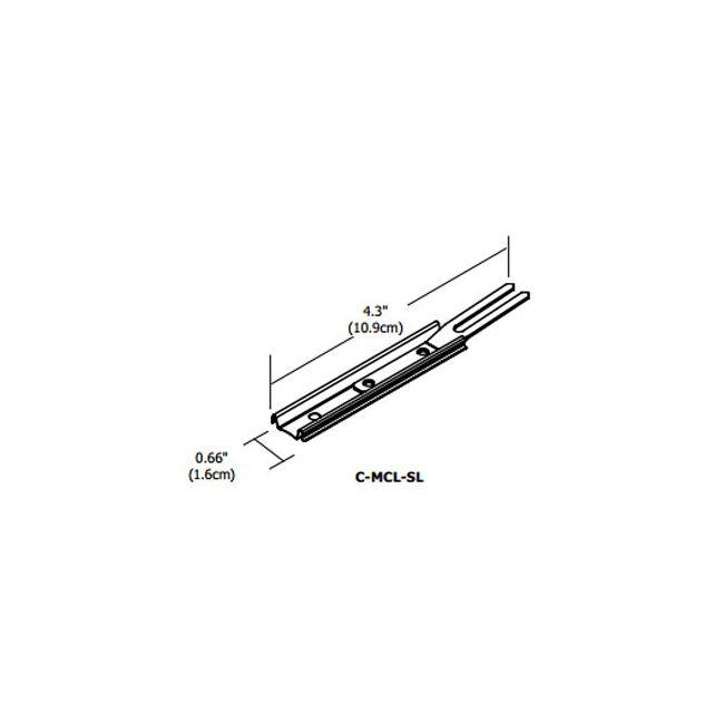 Cirrus Channel Locking Slide Clip by PureEdge Lighting | C-MCL-SL