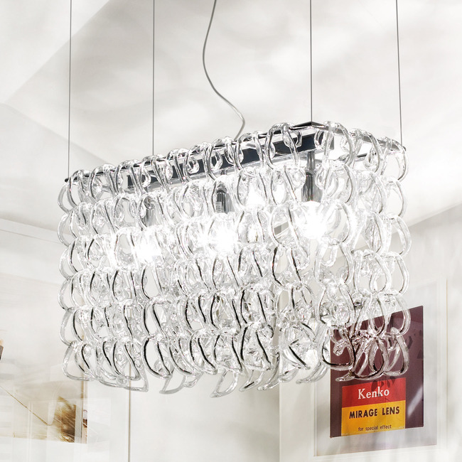 Giogali 3 Light Pendant by Vistosi | SPGIOGARET2CR