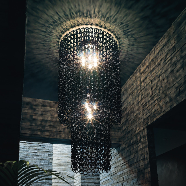 Giogali 94-inch Ceiling Light by Vistosi | PLGIOGACAS2NE
