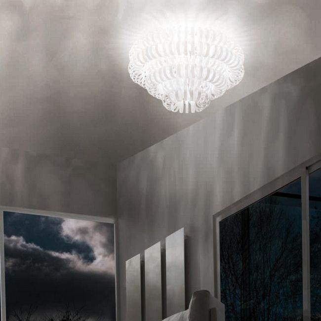 Ecos 90 Ceiling Light by Vistosi | PLECOS90BCCR