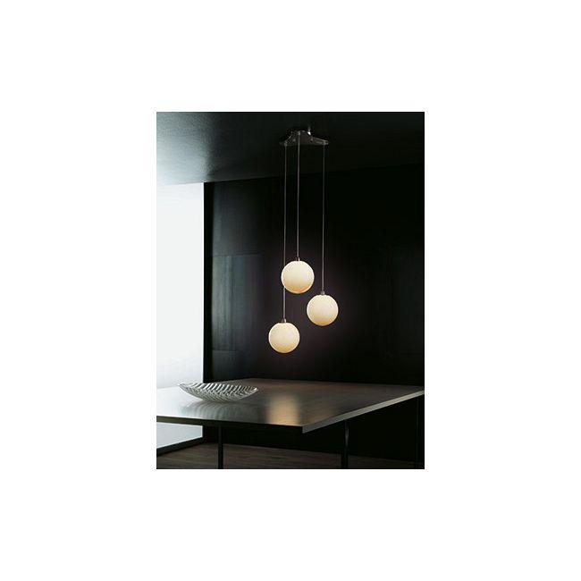 Bolle 3-light Pendant by Vistosi   SPBOLLE3PTONI