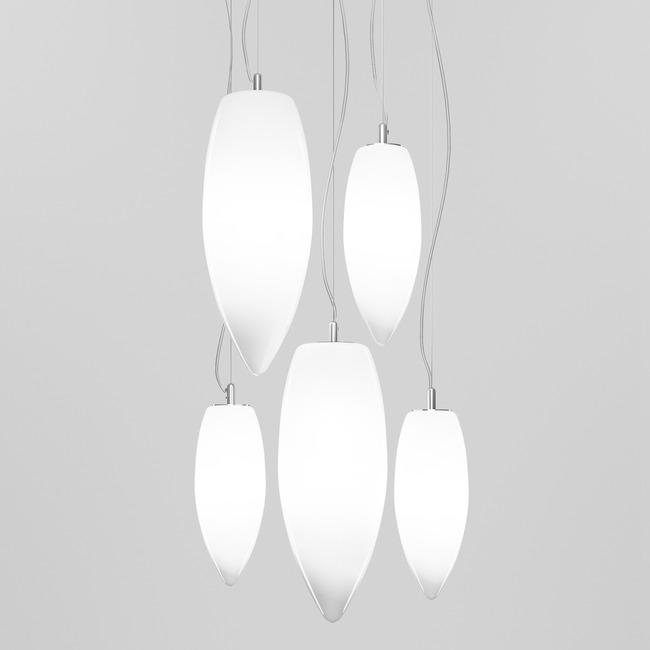 Baco Multi Light Pendant by Vistosi | SPBACO5CRNI