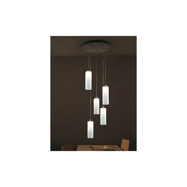 Follia 5-light Pendant by Vistosi | SPFOLL5PBCCRNI