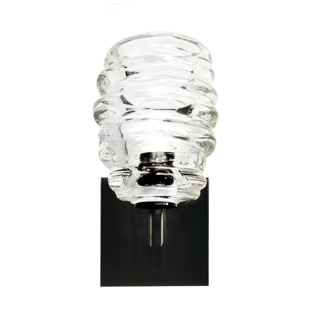 Cyclone Wall Light with Square Canopy by Siemon & Salazar | 38-78-48-SN