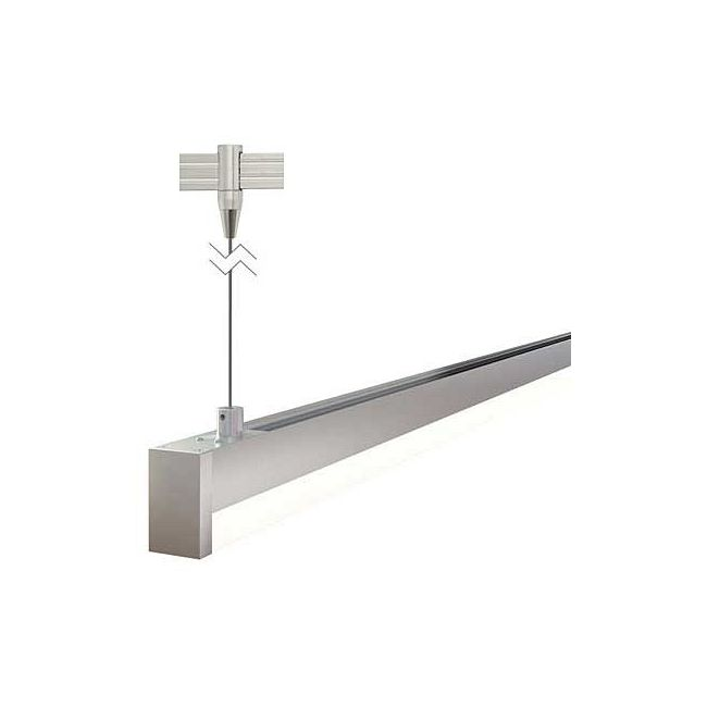 Monorail Cirrus Float R1 Rectangular Lens Suspension  by PureEdge Lighting