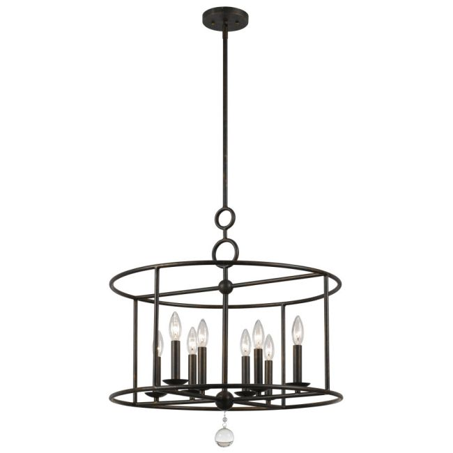 Cameron 8 Light Pendant by Crystorama | 9166-EB