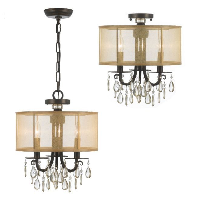 Hampton Convertible Chandelier by Crystorama | 5623-EB