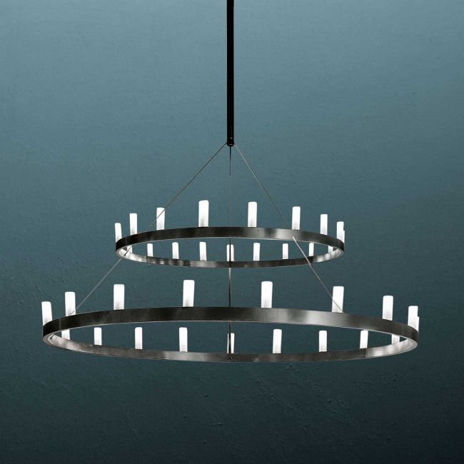 Chandelier 2 Tier Suspension  by Fontana Arte