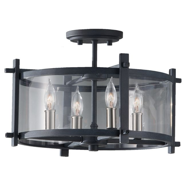 Ethan Semi Flush Mount by Feiss | SF292AF/BS