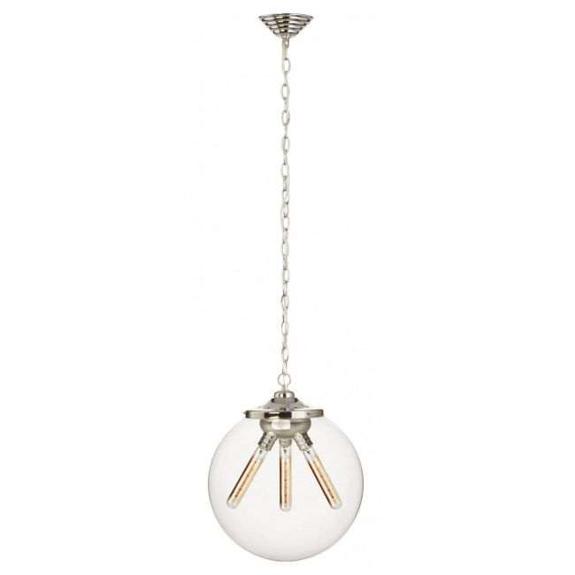 Kilo 3 Light Spiral Pendant with Chain by Stone Lighting | CH522CRPNRT4SA