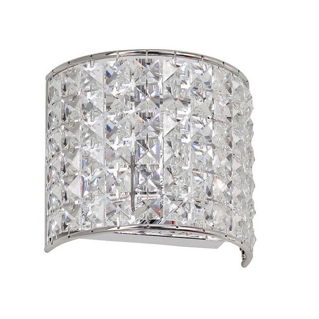 Crystal Vanity Light by Dainolite   V677-1W-PC