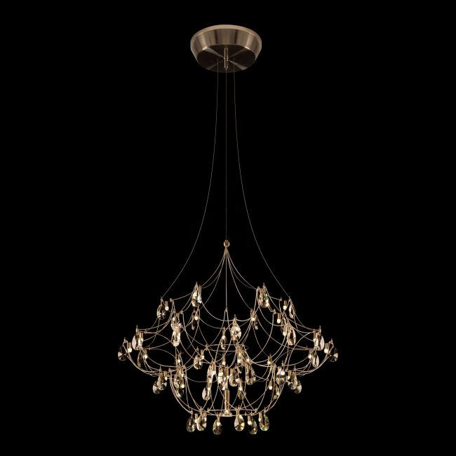 Crystal Galaxy Chandelier with Downlight by PureEdge Lighting | CRYGA31-12-L1-DL-SN