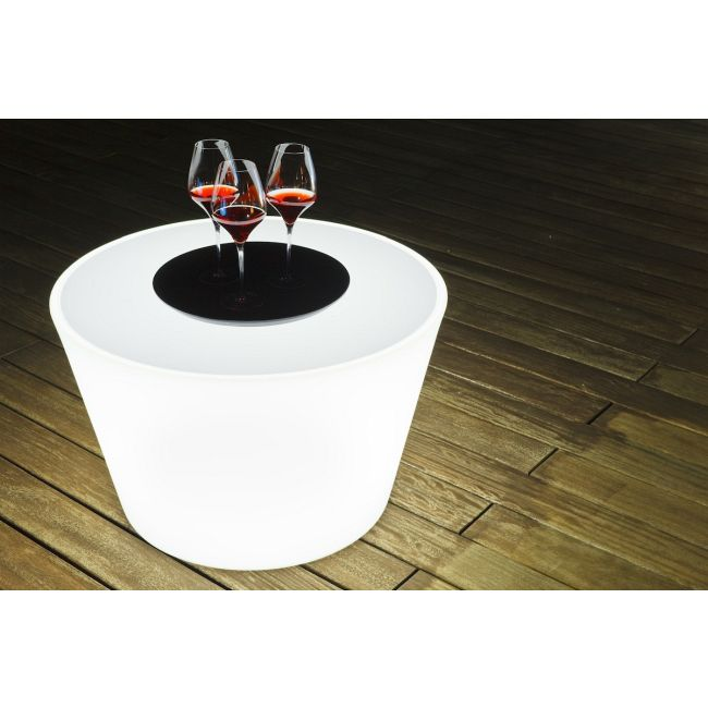 Bass Bluetooth Wireless Lighted Coffee Table  by Smart & Green
