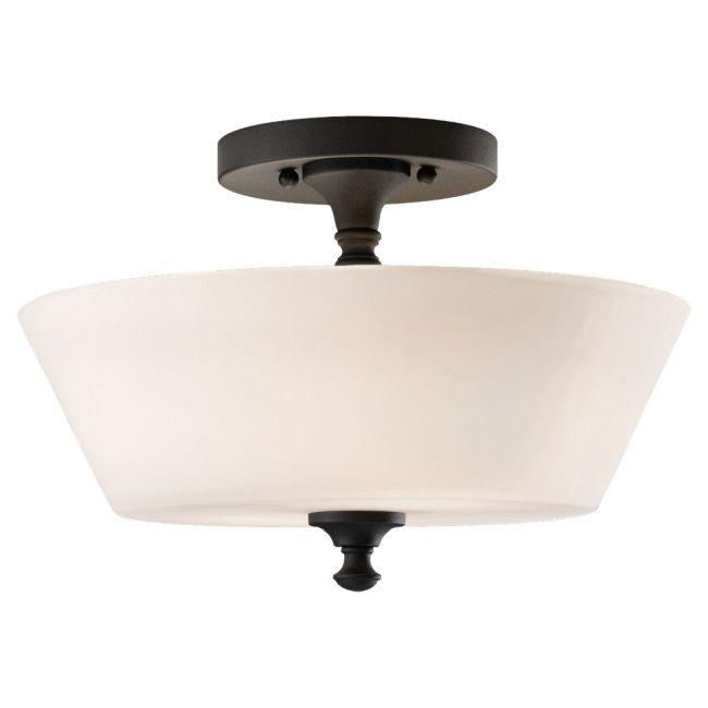 Peyton Semi Flush Ceiling Light by Feiss | SF275BK