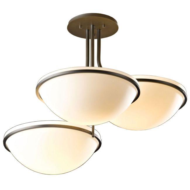Moonband Triple Bowl Semi Flush Ceiling Light by Hubbardton Forge | 124255-1006