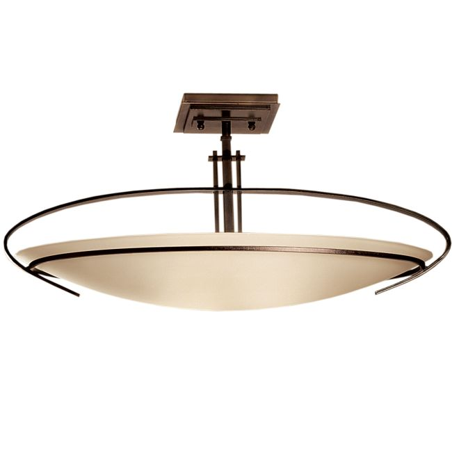 Mackintosh Oval Semi Flush Ceiling Light by Hubbardton Forge   124341-1002