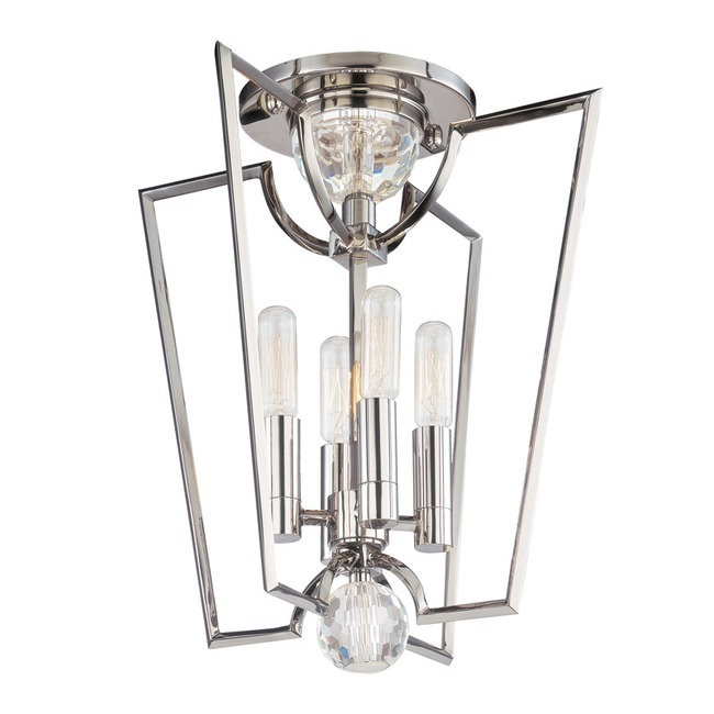 Waterloo Semi Flush Ceiling Light by Hudson Valley Lighting | 3004-PN