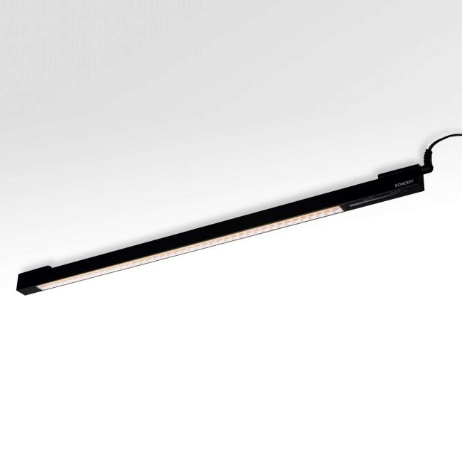 UCX Linear LED Undercabinet Light with Adapter by Koncept Lighting | UCX-42-WD-MBK-1PK