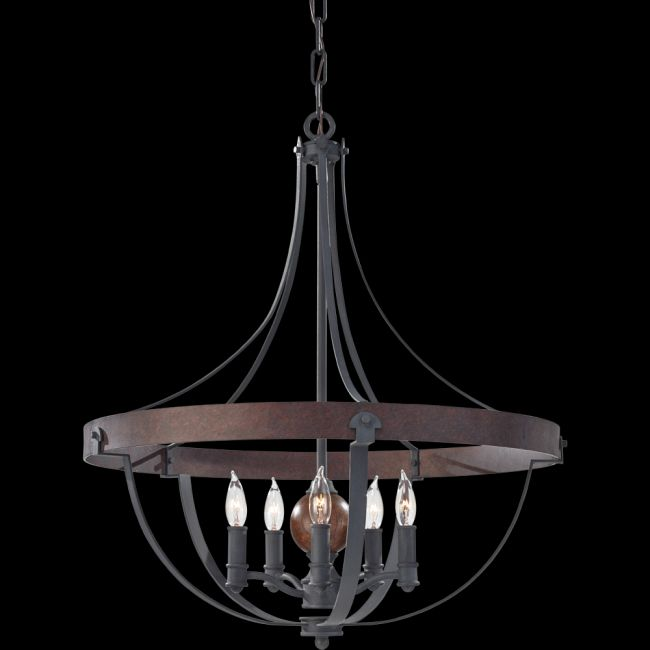 Alston Chandelier by Feiss   F2794/5AF/CBA