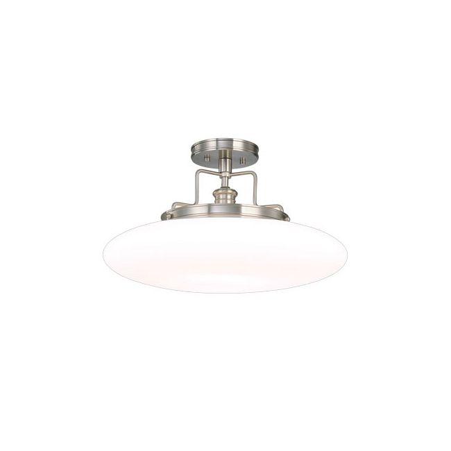 Beacon Semi Flush Ceiling Light by Hudson Valley Lighting | 4208-PN
