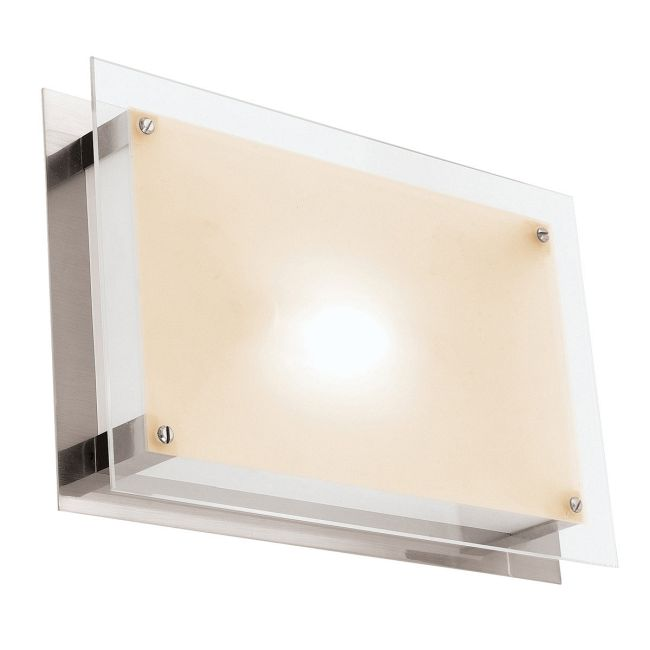 Vision Rectangle Wall or Ceiling Flush Mount by Access | 50033LED-BS/FST