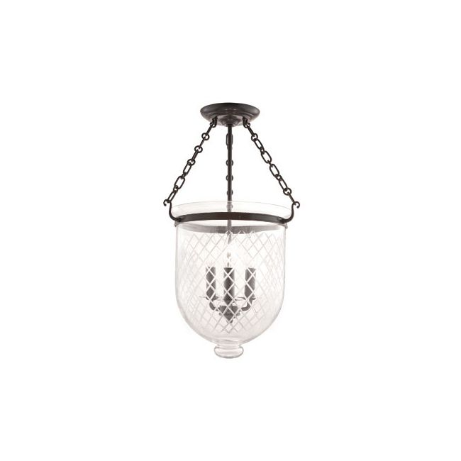 Hampton C2 Semi Flush Ceiling Light by Hudson Valley Lighting | 253-OB-C2
