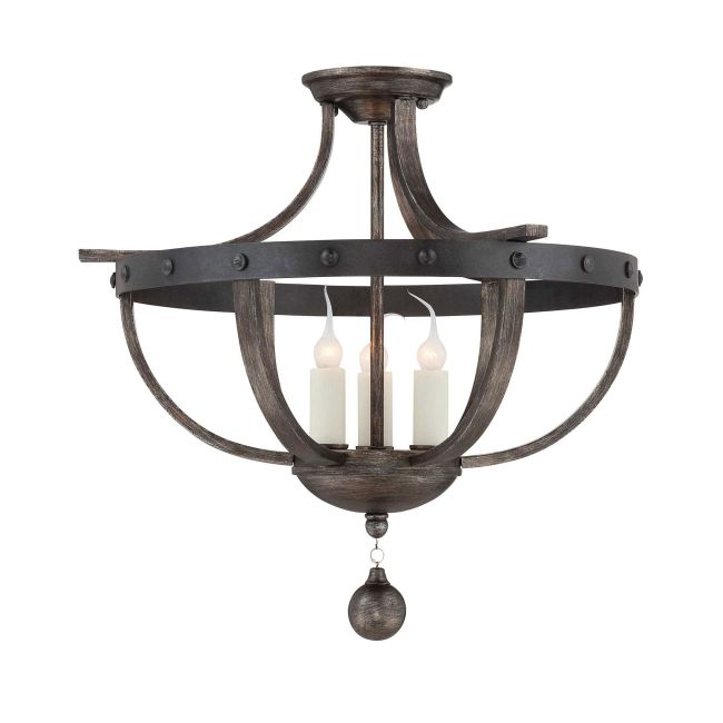 Alsace Semi Flush Mount  by Savoy House