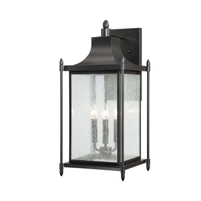Dunnmore Exterior Wall Sconce by Savoy House | 5-3453-BK