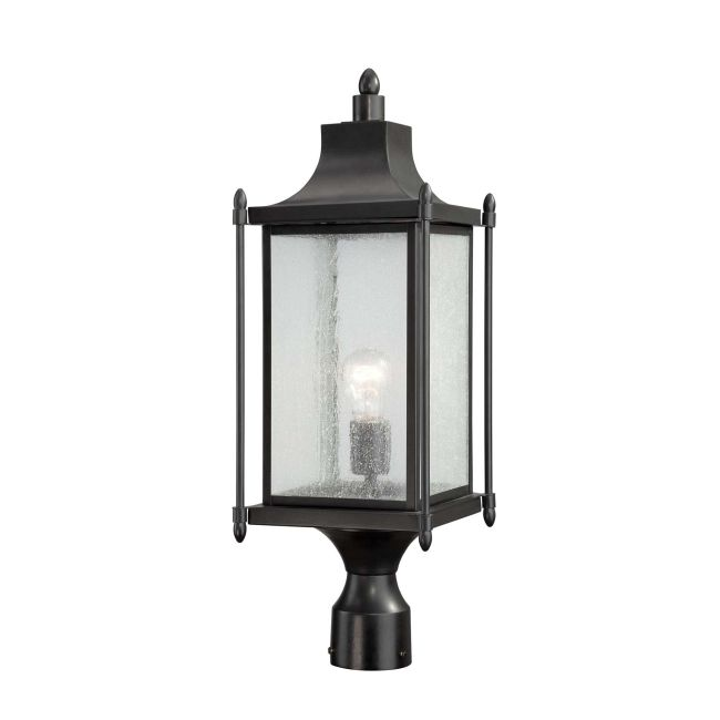 Dunnmore Exterior Post Light by Savoy House   5-3454-BK