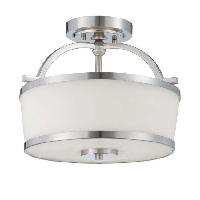 Hagen Semi Flush Ceiling Light by Savoy House | 6-4382-2-SN