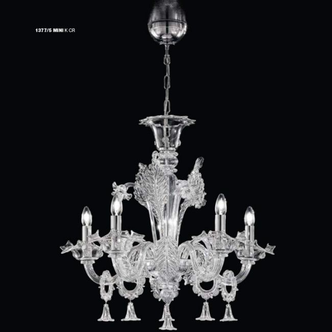 Mini 1377 Chandelier by Lightology Collection | LC-1377/5 MINI-K-CR