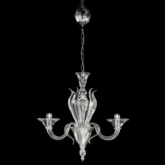 One Tier 1430 Chandelier by Lightology Collection | LC-1430/3-K-CR