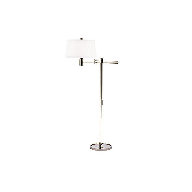 Lindale Swing Arm Floor Lamp by Hudson Valley Lighting | L526-PN-WS