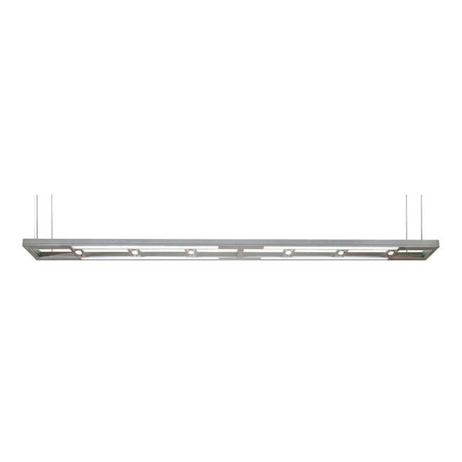 Lyra 120 Inch Halogen Linear Suspension WHITE  by PureEdge Lighting