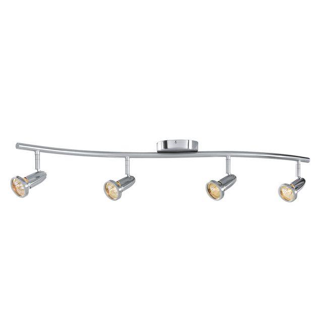Cobra Linear Semi Flush Ceiling Light by Access | 52204-BS