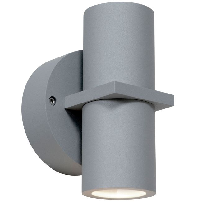 KO 52 Dual Spot Outdoor Wall Light by Access | 20352MG-SAT/CLR