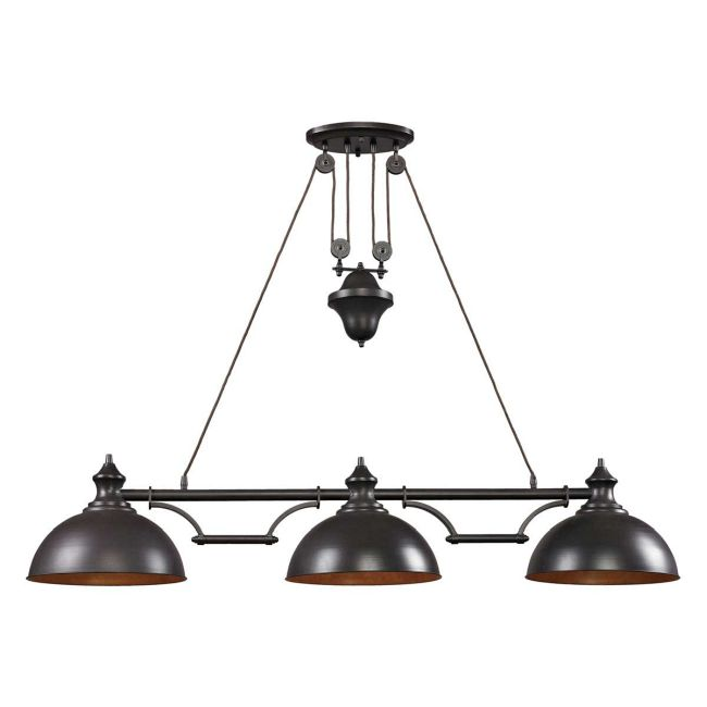 Farmhouse Linear Pendant Light by Elk Lighting | 65151-3