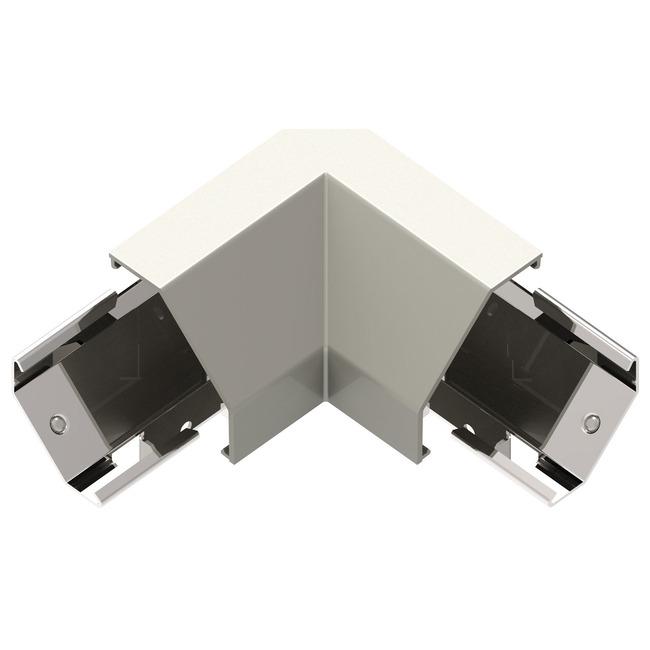 Modular Track Under Cabinet Corner Connector by Legrand   APCCTM4