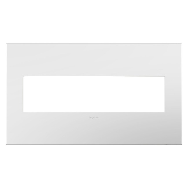 Adorne Plastic Screwless Wall Plate by Legrand | AWP4GWH4