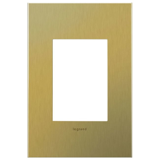 Cast Metal 1-Gang 3-Module Wall Plate by Legrand | AWC1G3BB4