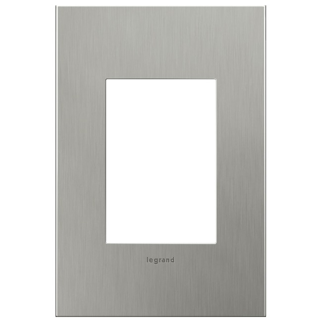 Cast Metal 1-Gang 3-Module Wall Plate by Legrand | AWC1G3BS4